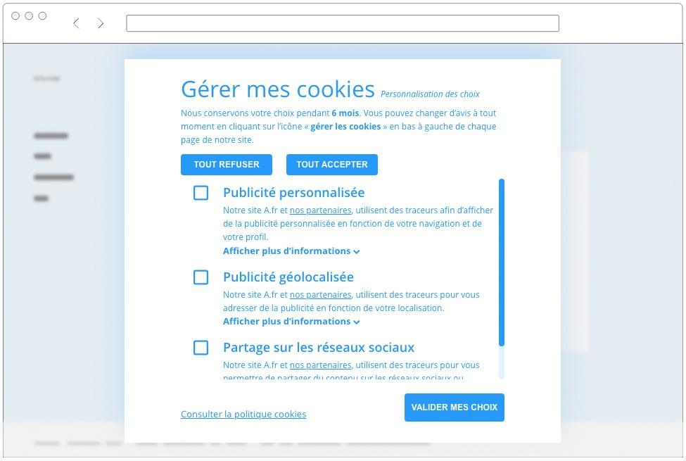 cookies rgpd CNIL gestion