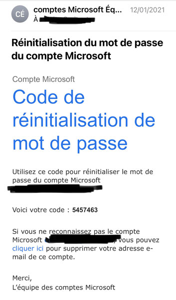 email transactionnel microsoft